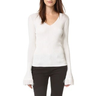 Derek Lam 10 Crosby Ivory Bell Sleeve Sweater