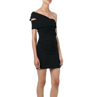 Dsquared2 Black One Shoulder Size 36 Dress