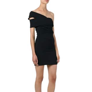 Dsquared2 Black One Shoulder Size 36 Dress|https://ak1.ostkcdn.com/images/products/14822313/P21339071.jpg?impolicy=medium
