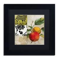 Color Bakery 'SoHo II' Matted Framed Art - Black