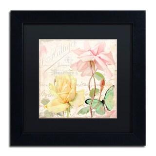 Color Bakery 'Florabella IV' Matted Framed Art
