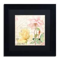 Color Bakery 'Florabella IV' Matted Framed Art - Black