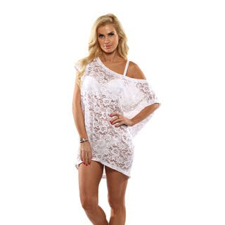 Lisa Blue White Lace Cover-up|https://ak1.ostkcdn.com/images/products/14822376/P21339160.jpg?impolicy=medium