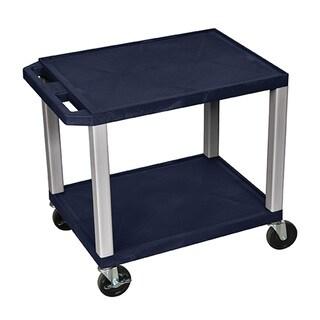 Offex OF-WT26Z-N 26-inch 2-shelf A/V Cart with Nickel Legs