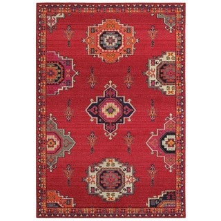 Style Haven Global Medallions Pink/Orange Area Rug (9'9 X 12'2)