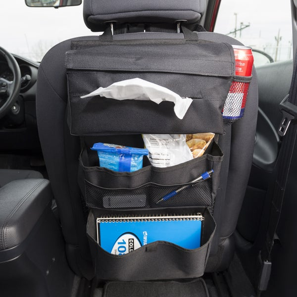 7-Pocket Over the Seat Hanging Travel Organizer Interior Storage Accessory for Car Truck SUV Van RV by Stalwart