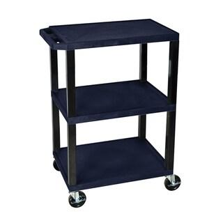 Offex Navy Blue 3-shelf Specialty Utility Cart