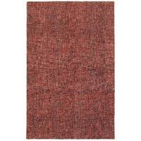 Style Haven Warm Spice Boucle Red and Rust Wool Handcrafted Area Rug - 10' x 13'