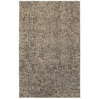 Style Haven Sombra Boucle Black/Beige Wool Handcrafted Area Rug (10' x 13') - 10' x 13'