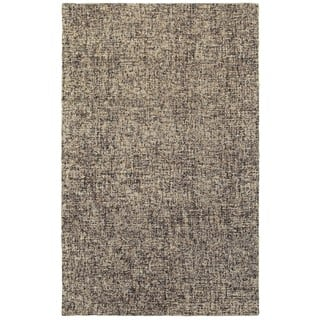 Style Haven Sombra Boucle Black Beige Wool Handcrafted Area Rug 10 X 13