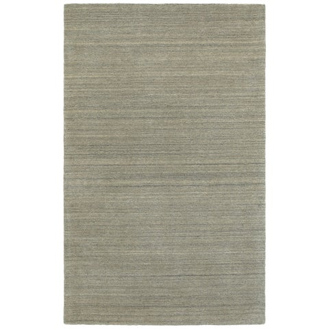 Style Haven Solid Distressed Grey Handcrafted Wool Area Rug (10' x 13') - 10' x 13'