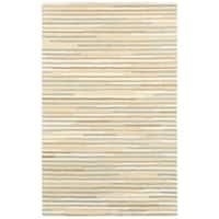 Style Haven Contemporary Beige/ Grey Stripe Wool Area Rug (10' x 13') - 10' x 13'