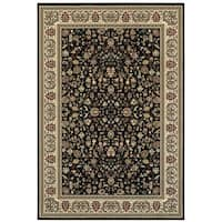 "Style Haven Floral Traditions Black/Ivory Area Rug - 9'10"" x 12'10"""