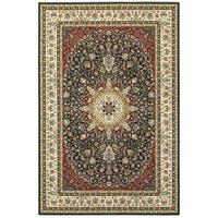 Style Haven Classic Medallion Navy/Ivory Area Rug - 9'10 x 12'10