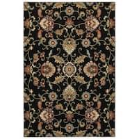 """Laurel Creek Wesley Black/Multicolor Oriental Area Rug - 9'10"""" X 12'10"""""""