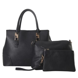 Diophyr Faux-leather 3-pieces Cosmetic Bag Set