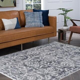 Tayse Rugs Alise Essence Grey Area Rug (7'6 x 10'3)