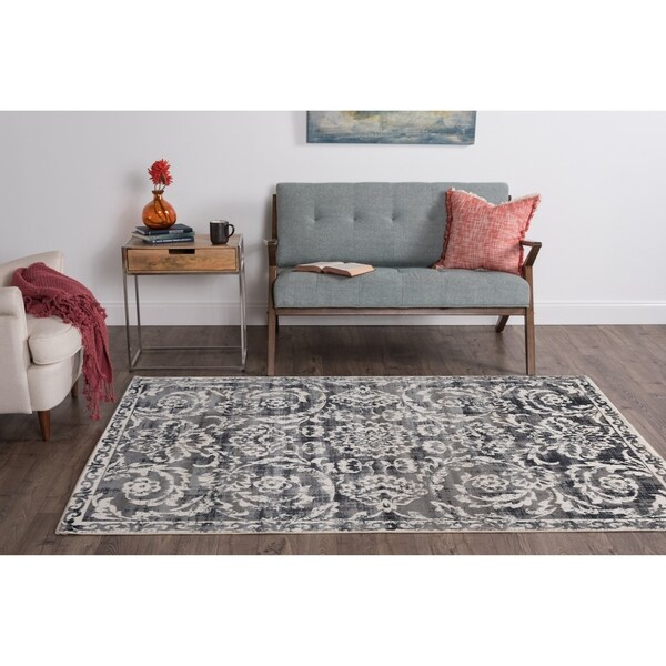 Alise Essence Grey Area Rug - 7'6 x 10'3