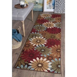 Alise Majolica Multi-Color Nylon Transitional Runner Rug - 2'3 x 11'