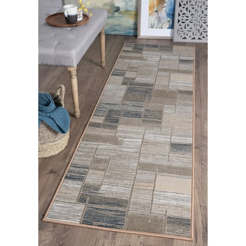 Alise Rugs Majolica Contemporary Abstract Runner Rug - 2'3 x 7'7