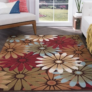 Tayse Rugs Alise Rugs Majolica Multi Transitional Area Rug (5' x 7')