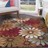 Alise Majolica Multi-Color Nylon Transitional Area Rug - 7'6 x 9'10