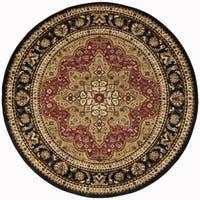 Alise Rugs Rhythm Traditional Oriental Round Area Rug - 7'10 x 7'10