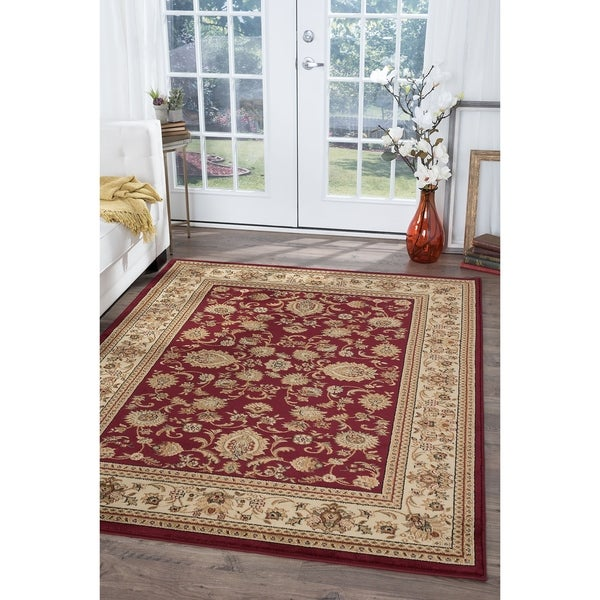 Alise Rugs Soho Transitional Border Area Rug - 10'6 x 14'6