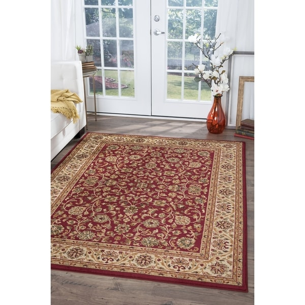 Alise Rugs Soho Traditional Border Area Rug