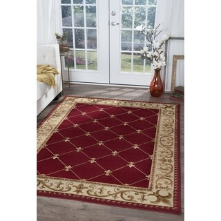 Alise Rugs Red and Ivory Area Rug (10'6x14'6)
