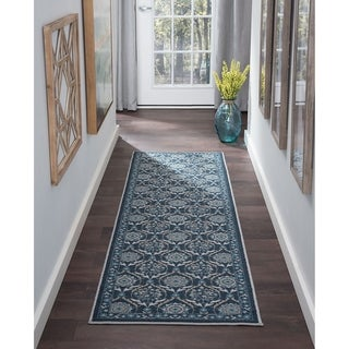 Alise Rugs Majolica Floral Area Rug (2'3' x 11')