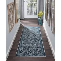 Alise Rugs Majolica Transitional Floral Runner Rug