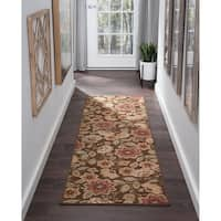 Alise Rugs Majolica Transitional Floral Runner Rug - 2'3 x 7'7