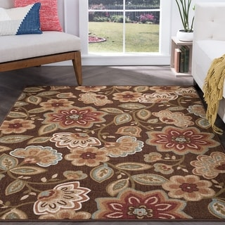 Alise Rugs Majolica Brown/Multicolor Area Rug (6'7 x 9'6)