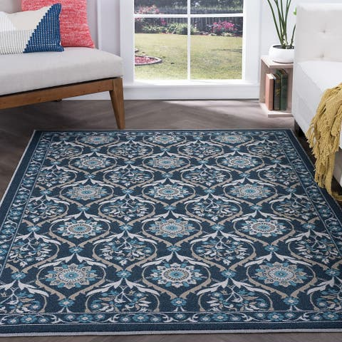 Alise Rugs Majolica Transitional Floral Area Rug