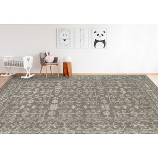 Shop Hand Tufted Truth Navy New Zealand Wool Rug 7 6 Quot X