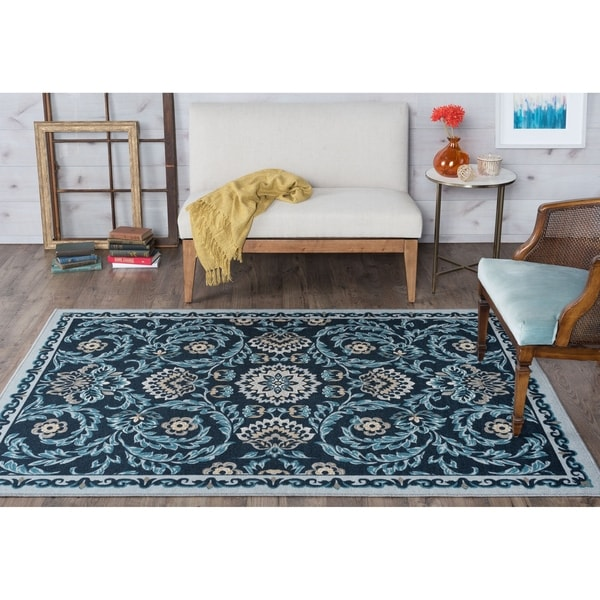 Alise Rugs Majolica Transitional Floral Area Rug - 7'6 x 9'10