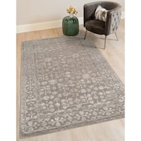 Hand-tufted Harmony Grey Wool Area Rug (8' x 11')