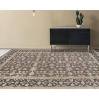 "Hand-tufted Harmony Grey Wool Area Rug - 7'6"" x 9'6"""
