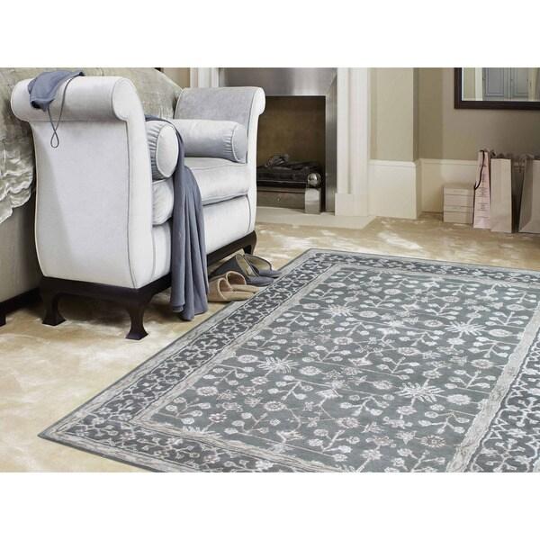 8 X 11 Area Rugs On Sale: Shop Hand-tufted Harmony Grey Wool Area Rug