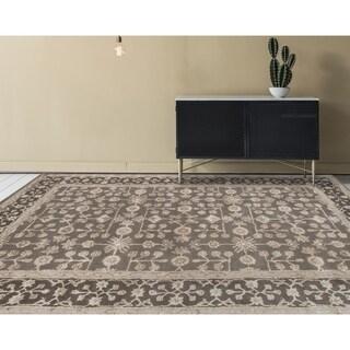 Hand-tufted Harmony Grey Wool Area Rug (8' x 11')