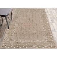 "Hand-tufted Harmony Beige Wool Area Rug - 7'6"" x 9'6"""