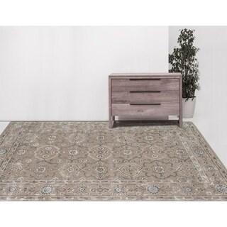 Hand-tufted Harmony Silver Sand Wool Area Rug (8' x 11')