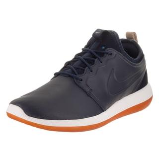 Nike Men's Roshe Two Obsidian Leather Premium Running Shoes