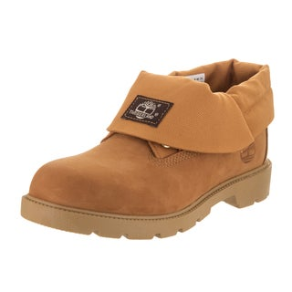 Timberland Boys' Brown Leather Roll-top Boot