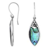 8e96417b6 Handmade Sterling Silver Bali Filigree Marquise Gemstone Dangle Earrings  (Indonesia)