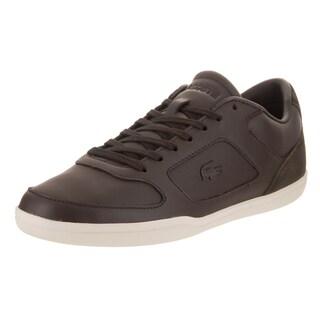 Lacoste Men's Court-minimal Black Leather Casual Shoes