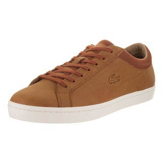 Lacoste Men's Straightset Brown Leather Casual Shoes