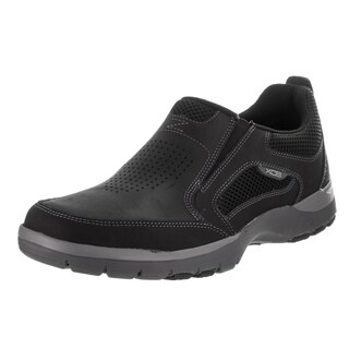 Rockport Men's Kingstin Black Leather Slip-on Casual Shoe