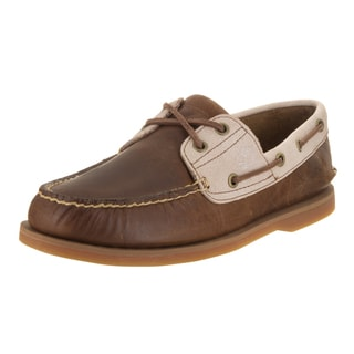 Timberland Men's Classic Brown Leather 2-eye Boat Shoe